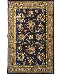 Safavieh Handmade Traditions Tabriz Red/ Gold Wool and Silk Rug (8' x 11')