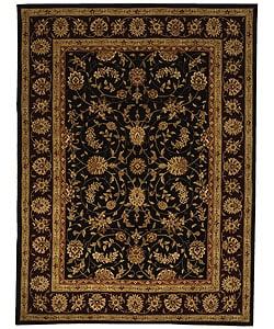 Safavieh Handmade Isfahan Black/ Burgundy Wool and Silk Rug (9'6 x 13'6)