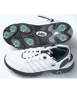 Bite Golf Women's Slingshot Golf Shoes - White/Navy - Thumbnail 0