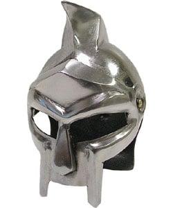 Mini Roman Gladiator Helmet with Knife - Thumbnail 0