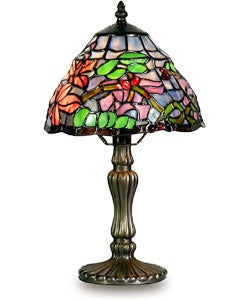tiffany style mini bouquet accent lamp free shipping on orders over. Black Bedroom Furniture Sets. Home Design Ideas