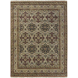Hand-knotted Isfahan Wool Rug (8'6 x 11'6)