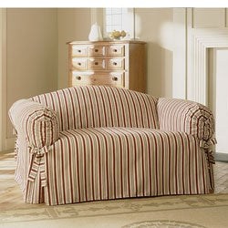 Shop Vintage Rose Stripe Sofa Slipcover Free Shipping