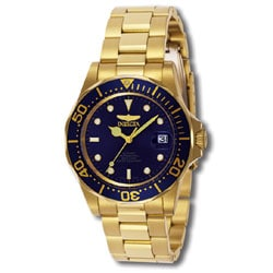 Invicta Men's Men Automatic Pro Diver G3 8930 Blue Gold Tone Automatic Watch