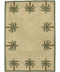 Hand Tufted Palm Tree Wool Rug (8u0027 X 10u0027)