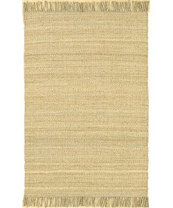 Hand-woven Jute Bleached Area Rug (8' Square)