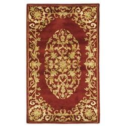 Safavieh Handmade Heritage Timeless Traditional Red Wool Rug - 3' x 5' - Thumbnail 0