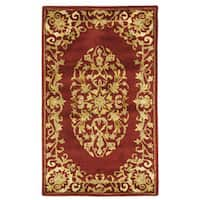 Safavieh Handmade Heritage Timeless Traditional Red Wool Rug - 3' x 5'