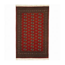 Nourison Hand-knotted All-wool Rust Bokhara Rug (9'6 x 13'6) - Thumbnail 0