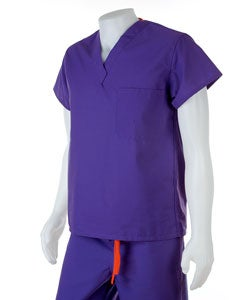 Medline Unisex Reversible Regal Purple Scrub Top