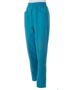 Medline Women's Elastic Waist Peacock Scrub Pant