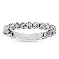 Shop 14 Kt White Gold 1 4 Ct Tw Flexible Diamond Wedding Band