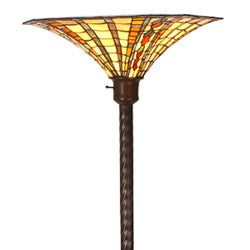 Large Tiffany-style Golden Amber Torchiere