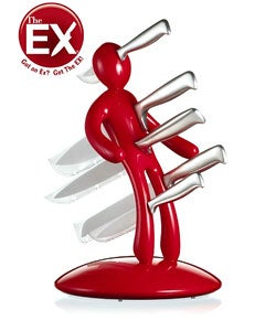 Thumbnail 1, The Ex 5pc Knife Set with Unique Red Holder designed by Raffaele Iannello.