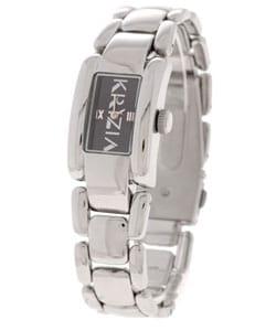 Krizia Women's Black Dial Stainless Steel Watch