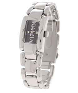 Krizia Women's Black Dial Stainless Steel Watch