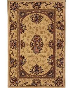 Safavieh Handmade Kerman Beige Wool/ Silk Rug (2'6 x 4')