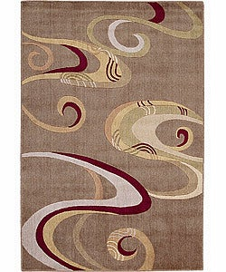 Nourison Graphic Illusions Ivory Latte Rug (7'9 x 10'10)