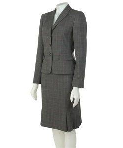 Tahari Grey/Black/Pink Two-piece Skirt Suit - Thumbnail 0
