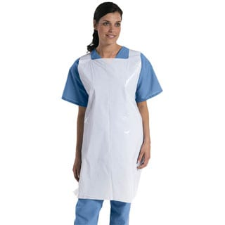"Medline Apron, Poly, Pullover, 24""x42"" (bulk pack of 1000)"