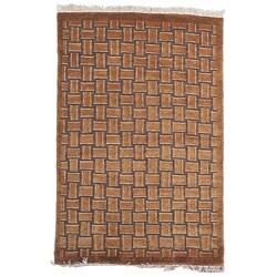 Safavieh Hand-knotted Tibetan Geometric Beige/ Multi Wool Rug - 8' x 10 - Thumbnail 0