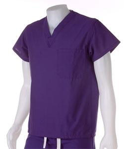 Medline Rich Purple Unisex Reversible Scrub Top
