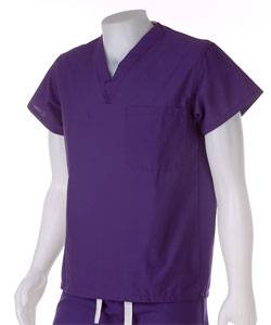 Medline Rich Purple Unisex Reversible Scrub Top (4 options available)