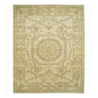 Nourison Hand-knotted Court of Versailles Gold Wool Rug (2'4 x 9'9) Runner