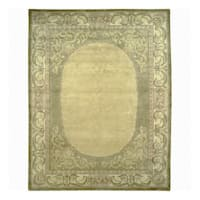 Nourison Hand-knotted Court of Versailles Green Wool Rug (2'4 x 9'9) Runner