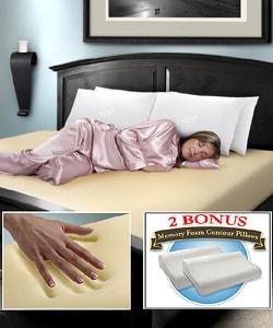 Memory Foam 10-inch King Firm Mattress with Bonus Pillows - Thumbnail 0