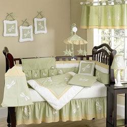 Shop Dragonfly Dreams 12 Piece Green Crib Bedding Set