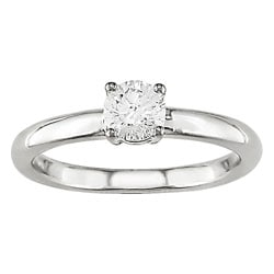 14k Gold 1/4 ct TDW Round Solitaire Diamond Ring