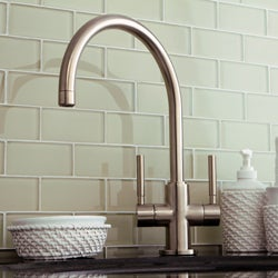 Concord Dual Handle Satin Nickel Vessel Faucet