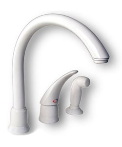 moen white kitchen faucets moen white single handle high arc kitchen faucet free shipping today overstock