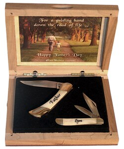 Limited Edition Fathers Day Father Son Knife Set - Thumbnail 0