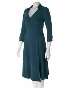 Thumbnail 1, Famous NY Maker Matte Jersey Wrap Dress.