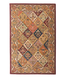 Shop Hand Tufted Baktarri Red Multi Color Wool Rug 4 X