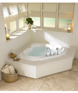 Jacuzzi bellavista corner whirlpool tub free shipping for Corner garden tub