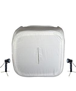 HiRO 32-inch Portable Photo Studio & 2 50W Lights - Thumbnail 0