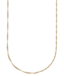 14k Yellow Gold 1 mm 14-inch Singapore Necklace