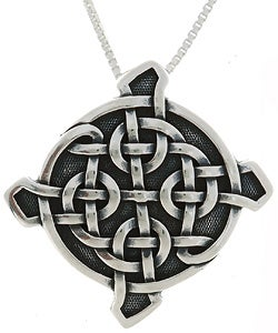 Carolina Glamour Collection Sterling Silver Ulbster Celtic Shield Necklace