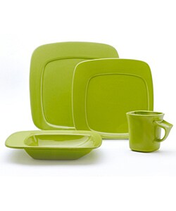 studio nova compose green 16 piece dinnerware set free shipping
