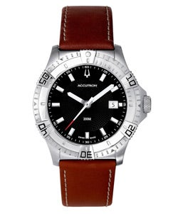 Thumbnail 1, Accutron Men's Black Patterned Swiss Made Watch.