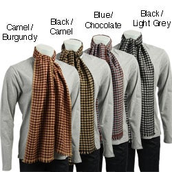 Men's Houndstooth Cashmere Scarf - Thumbnail 0