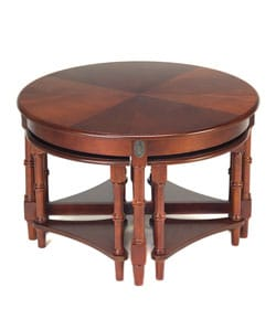 Round Coffee Table With 4 Nested Side Tables Free Shipping Today 10379693
