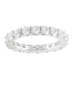 18k Gold 3ct Diamond Eternity Band (H-I-J , I1-I2, sz 7)