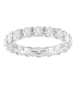 Miadora Signature Collection 18k Gold 3ct Diamond Eternity Band