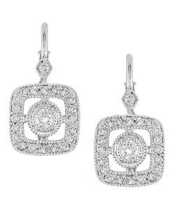 14k White Gold 1/2ct Diamond Dangle Earrings