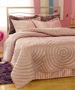 Shop Glitter Pink Comforter Set Free Shipping Today