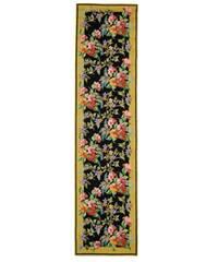 Safavieh Hand-hooked Midnight Garden Black Wool Runner Rug - 2'6 x 10'
